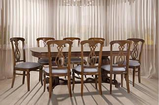Стол Микс Мебель Барон Орех кухонный обеденный овальный раскладной , фото 3