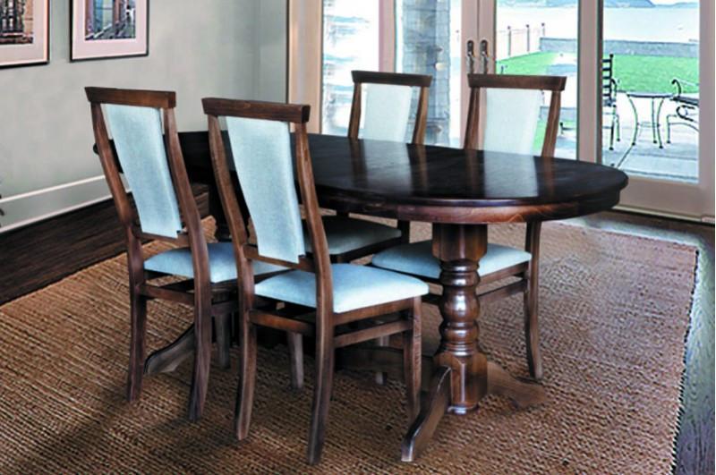 Стол Микс Мебель Говерла 1,2 Тёмный орех кухонный обеденный овальный раскладной