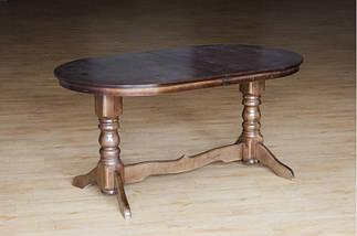 Стол Микс Мебель Говерла 1,2 Тёмный орех кухонный обеденный овальный раскладной, фото 2
