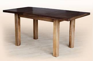 Стол Микс Мебель Петрос Тёмный орех кухонный обеденный прямоугольный раскладной, фото 3