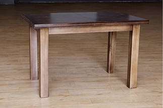 Стол Микс Мебель Петрос Тёмный орех кухонный обеденный прямоугольный раскладной, фото 2