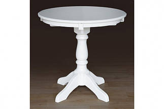 Стол Микс Мебель Чумак Слоновая кость кухонный обеденный круглый нераскладной , фото 3