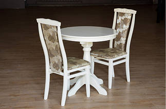 Стол Микс Мебель Чумак-2 Белый (слон кость) кухонный обеденный круглый раскладной, фото 3