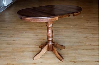 Стол Микс Мебель Чумак-2 Тёмный орех кухонный обеденный круглый раскладной, фото 3