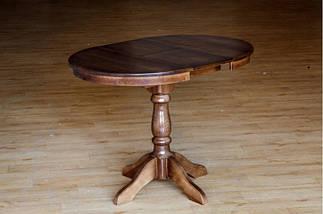 Стол Микс Мебель Чумак-2 Тёмный орех кухонный обеденный круглый раскладной, фото 2