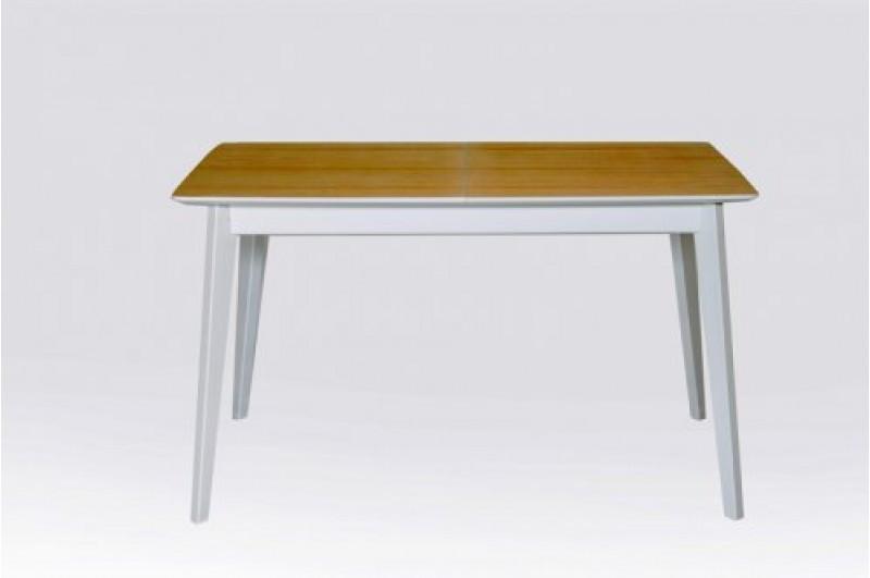 Стол Микс Мебель Сингл ножки белые  кухонный обеденный прямоугольный раскладной