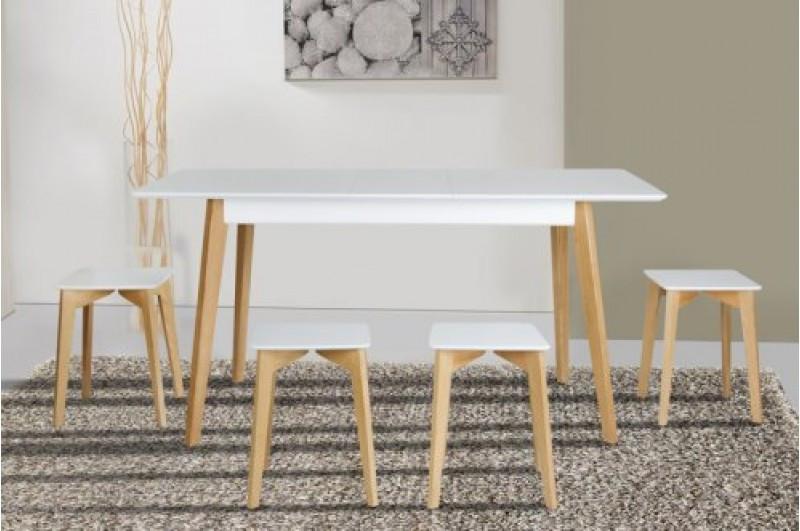 Стол Микс Мебель Сингл ножки дуб кухонный обеденный прямоугольный раскладной