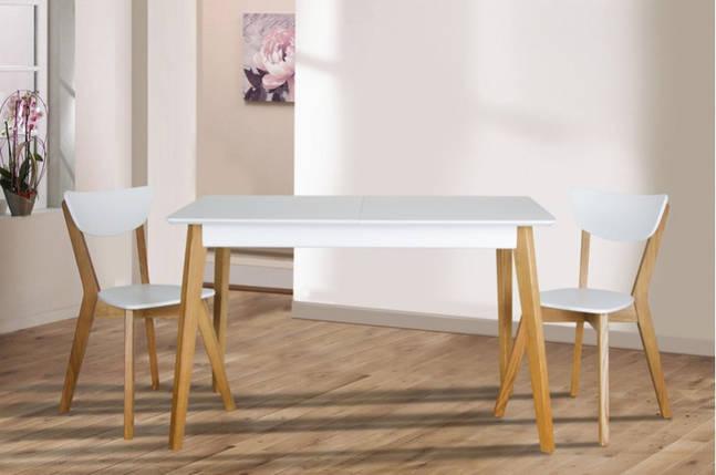Стол Микс Мебель Сингл ножки дуб кухонный обеденный прямоугольный раскладной, фото 2