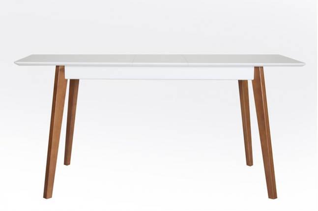 Стол Микс Мебель Сингл ножки орех кухонный обеденный прямоугольный раскладной, фото 2