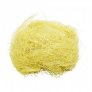 Наполнитель для подарка Сизаль желтого цвета 10 грамм