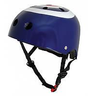 Шлем детский Kiddi Moto синяя мишень, размер S 48-53см