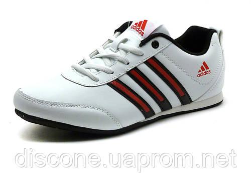 Кроссовки кожаные мужские Adidas Classic белые/ красные