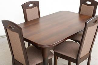 Стол Микс Мебель Мартин Тёмный орех кухонный обеденный прямоугольный раскладной, фото 2