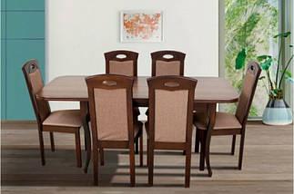 Стол Микс Мебель Мартин Тёмный орех кухонный обеденный прямоугольный раскладной, фото 3