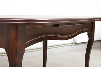 Стол Микс Мебель Оливер Тёмный орех кухонный обеденный овальный раскладной, фото 2