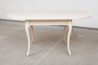 Стол Микс Мебель Твист Бежевый кухонный обеденный овальный раскладной, фото 2