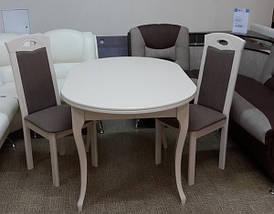 Стол Микс Мебель Твист Бежевый кухонный обеденный овальный раскладной, фото 3