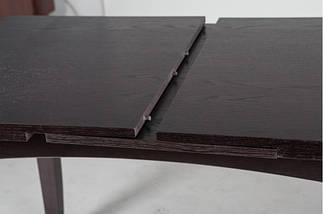 Стол Микс Мебель Леон Венге кухонный обеденный прямоугольный раскладной, фото 3