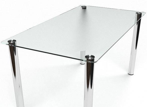 Стол Sentenzo Кристалл кухонный обеденный прямоугольный стеклянный нераскладной, фото 2