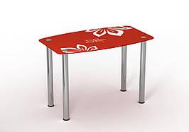 Стол Sentenzo Фламенко кухонный обеденный прямоугольный стеклянный нераскладной
