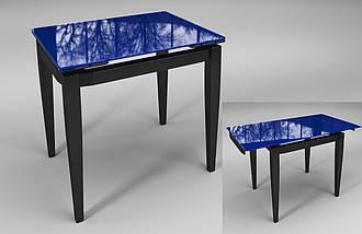 Стол Sentenzo Тореро кухонный обеденный прямоугольный стеклянный на деревянных ножках раскладной, фото 3