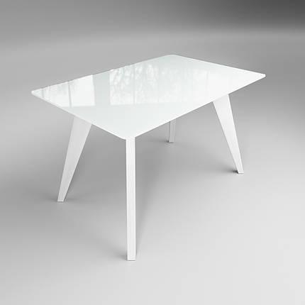 Стол Sentenzo Леонардо кухонный обеденный прямоугольный стеклянный на деревянных ножках нераскладной, фото 2