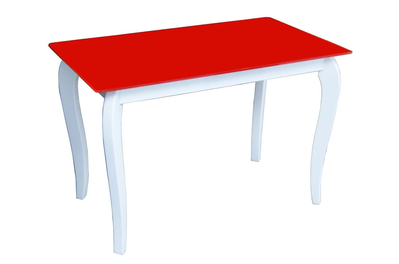 Стол Sentenzo Император Белиссимо Ред кухонный обеденный прямоугольный стеклянный на ножках нераскладной