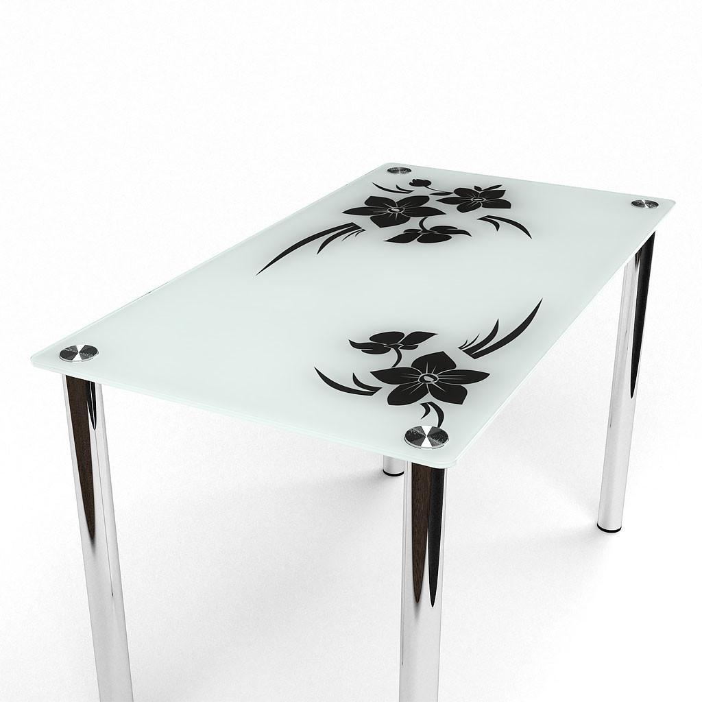 Стол БЦ Магнолия кухонный обеденный прямоугольный стеклянный нераскладной