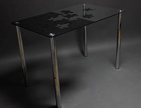 Стол БЦ Пазл кухонный обеденный прямоугольный стеклянный нераскладной, фото 2