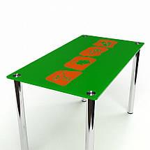 Стол БЦ Полевой кухонный обеденный прямоугольный стеклянный нераскладной, фото 3