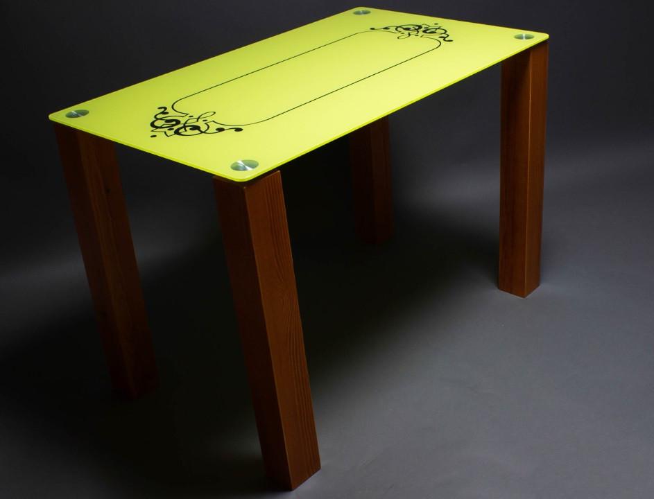 Стол БЦ Посредник кухонный обеденный прямоугольный стеклянный нераскладной