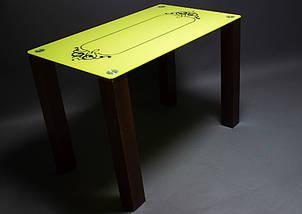 Стол БЦ Посредник кухонный обеденный прямоугольный стеклянный нераскладной, фото 2