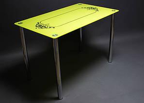 Стол БЦ Посредник кухонный обеденный прямоугольный стеклянный нераскладной, фото 3