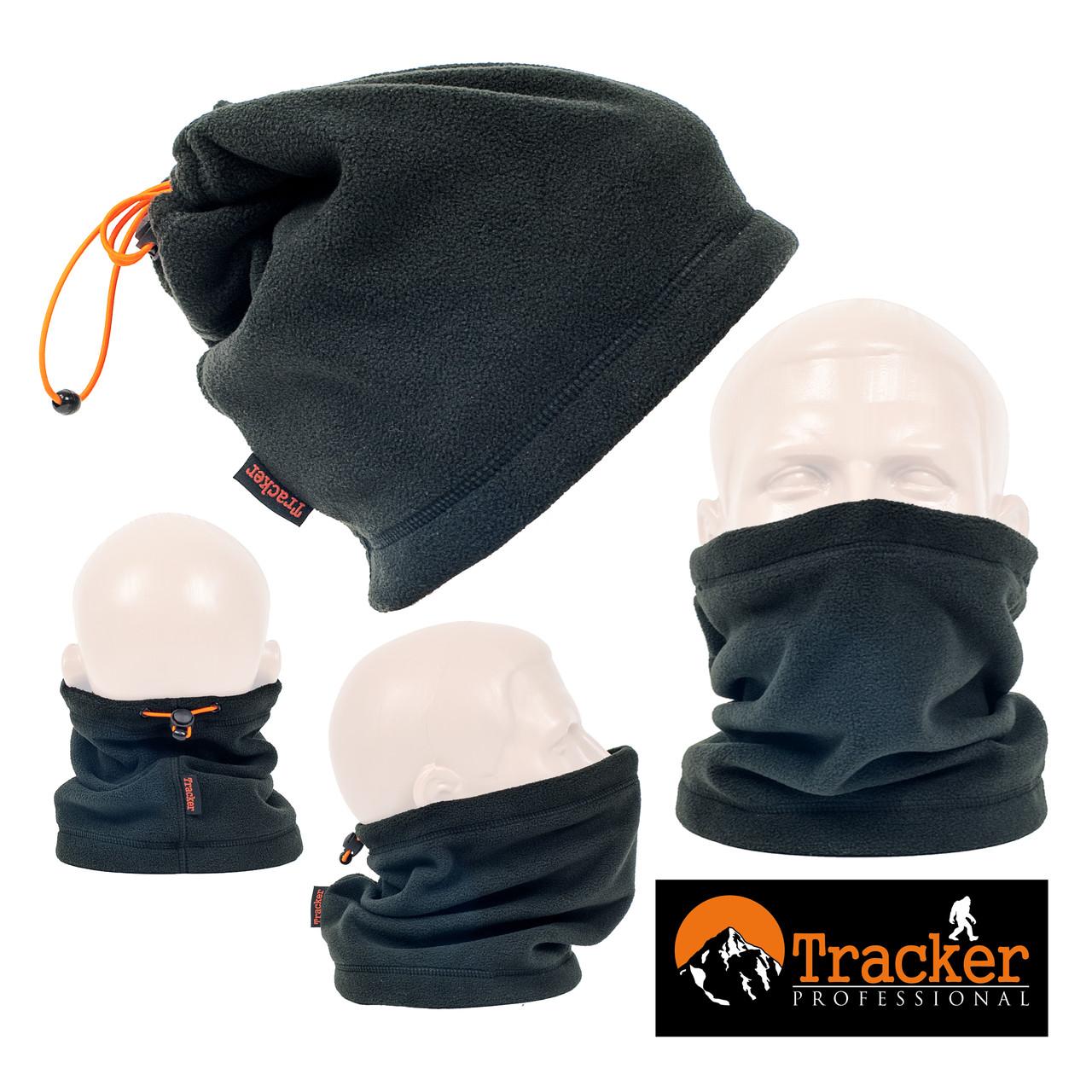 Бафф подростковый универсальный флисовый Tracker цвет черный