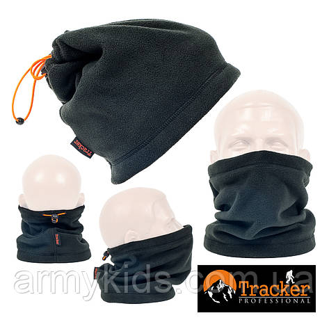 Бафф подростковый универсальный флисовый Tracker цвет черный, фото 2