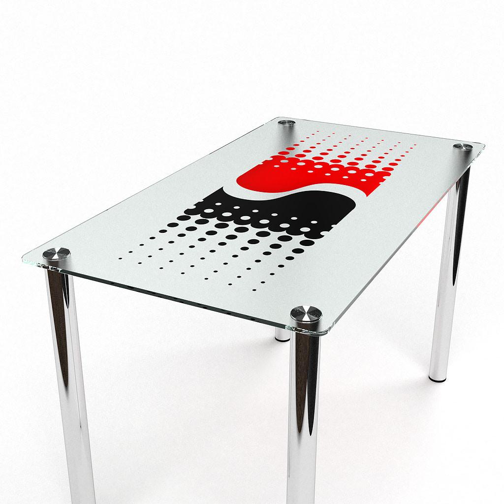 Стол БЦ Противодействие кухонный обеденный прямоугольный стеклянный нераскладной