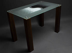 Стол БЦ Противодействие кухонный обеденный прямоугольный стеклянный нераскладной, фото 3