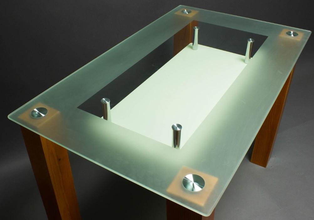 Стол БЦ СК-4 кухонный обеденный прямоугольный стеклянный нераскладной