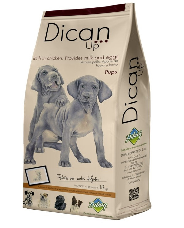 Dibaq DicanUp Pups - сухой корм для щенков, кормящих и беременных сук с курицей 18 кг