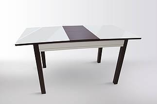 Стол Биформер Сан Ремо 1 RAL 1013 кремовый + RAL 8017 шоколадный кухонный обеденный прямоугольный раскладной, фото 2