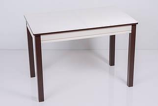 Стол Биформер Сан Ремо 1 RAL 1013 кремовый + RAL 8017 шоколадный кухонный обеденный прямоугольный раскладной, фото 3