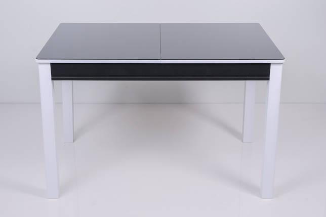 Стол Биформер Сан Ремо Мини 3 RAL 9005 чёрный + RAL 9003 белый кухонный обеденный прямоугольный раскладной, фото 2