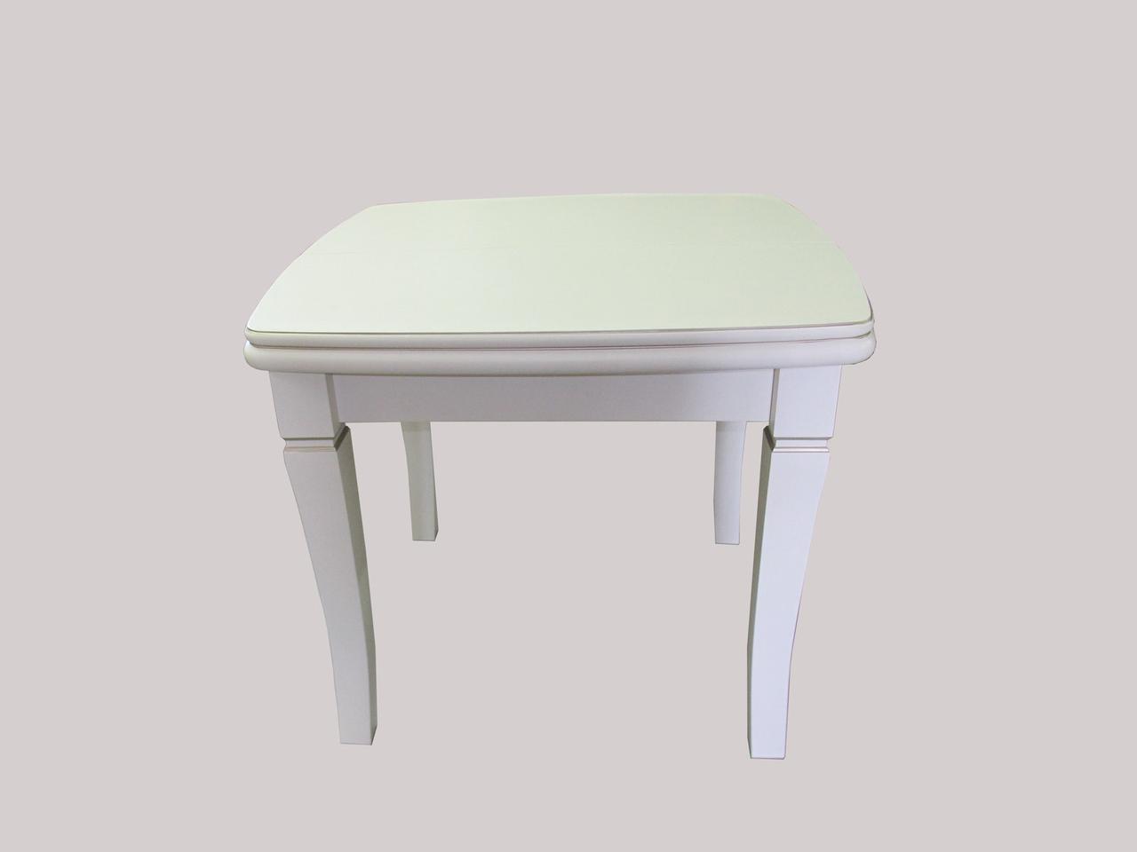 Стол Биформер Монте Карло Белый с патиной до 2,9 м кухонный обеденный прямоугольный раскладной