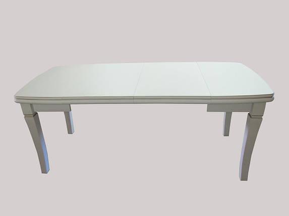 Стол Биформер Монте Карло Белый с патиной до 2,9 м кухонный обеденный прямоугольный раскладной, фото 2