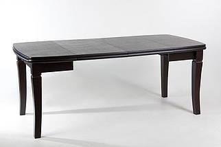 Стол Биформер Монте Карло Орех тёмный до 1,9 м кухонный обеденный прямоугольный раскладной, фото 3