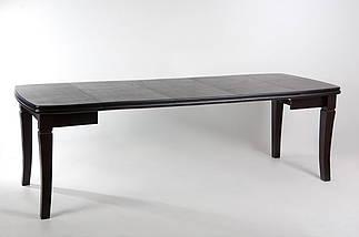 Стол Биформер Монте Карло Орех тёмный до 1,9 м кухонный обеденный прямоугольный раскладной, фото 2