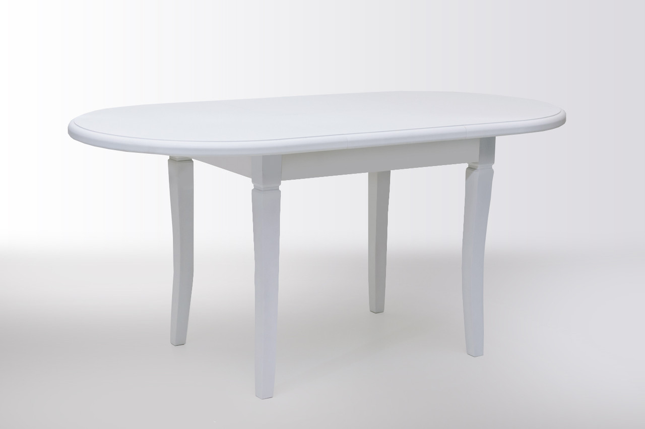 Стол Биформер Ла Рошель Белый кухонный обеденный овальный раскладной
