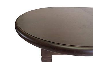 Стол Биформер Ла Рошель Сейба Орех тёмный кухонный обеденный овальный раскладной, фото 2