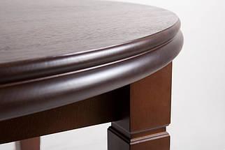 Стол Биформер Лас Вегас Сейба Орех тёмный до 3,1 м кухонный обеденный круглый раскладной, фото 2