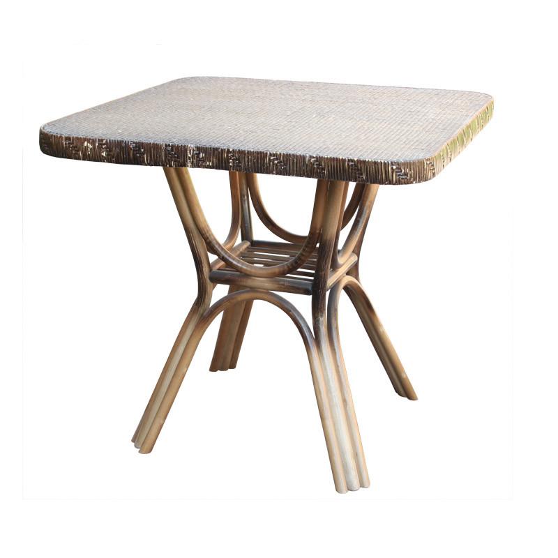 Стол ЧФЛИ Триумф кухонный обеденный квадратный плетеный из ротанга нераскладной